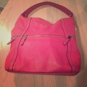 Beautiful pink genuine leather TIAGNELLO hobo