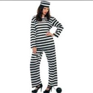 Inmate 2pc Jumpsuit Costume