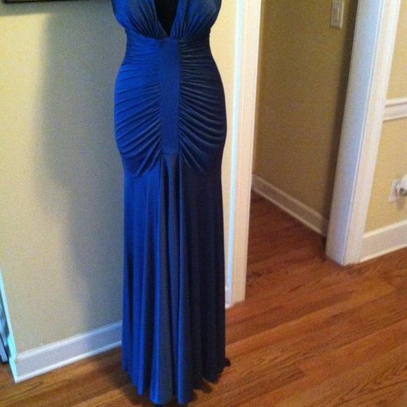 57% off Xscape by Joanna Chen Dresses &amp Skirts - Long blue dress ...