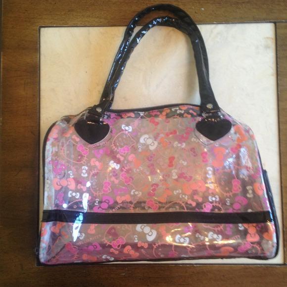 85611b3183ce Hello Kitty Handbags - REDUCED 🔽 Hello kitty clear purse