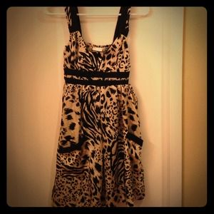Mink Pink Cheetah Print Dress