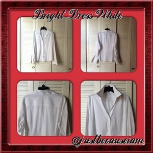 H&M Tops - H & M White Long Sleeve Dress Shirt With Cuffs