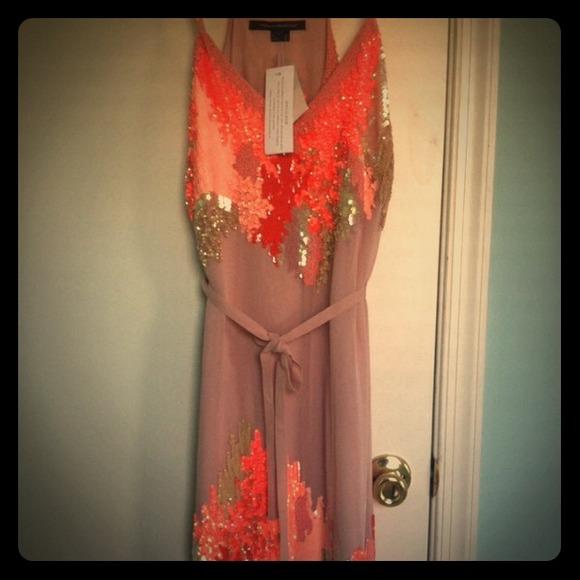 😎😎SOLD EBAYEmbellished nude dress