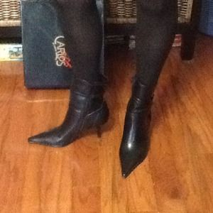 Black carlos santana above ankle boot, size 7.