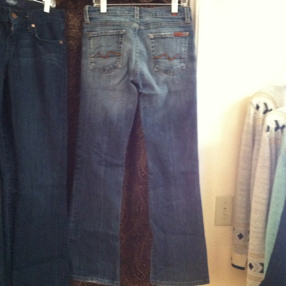 7 for all Mankind Denim - Seven 7 For All Mankind Boot Cut Jeans 26 2