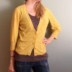 Lightweight yellow cardigan