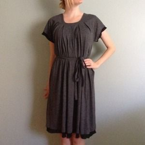 Vera Wang grey sheath dress
