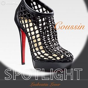 CONSIGNED-Christian Louboutin Coussin Caged Bootie
