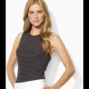 Lauren Ralph Lauren Zeda striped Top size small
