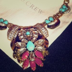 HP J. Crew Tortoise & Turquoise Statement Necklace