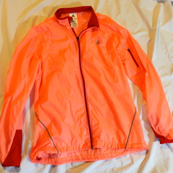 84% off Adidas Jackets &amp Blazers - Adidas Orange Peach Translucent