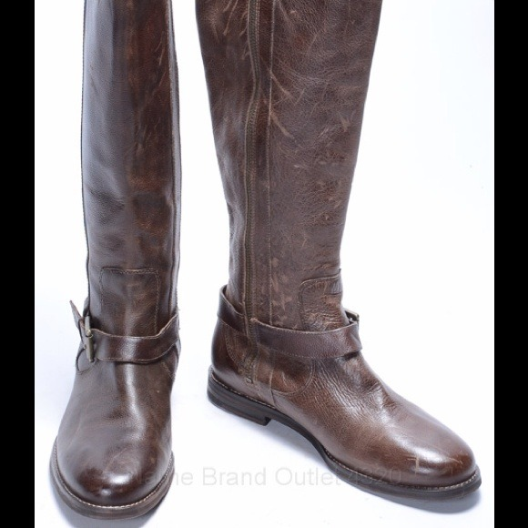 COLE HAAN NIKE AIR TALL KNEE RIDING HARNESS BOOTS