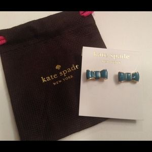 Kate Spade Turquoise Bow Earrings