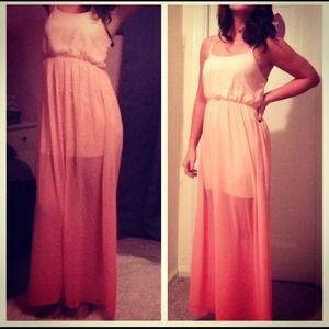bueatiful ombre maxi dress