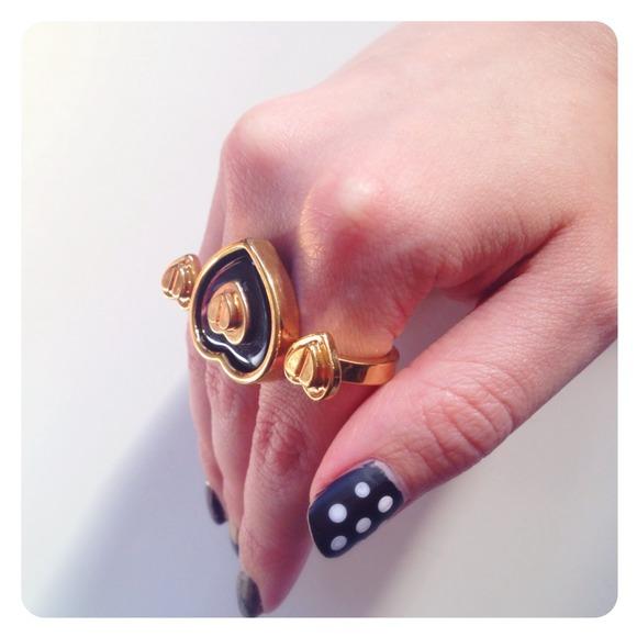 Betsey Johnson Jewelry - Betsey Johnson Heart Double Ring