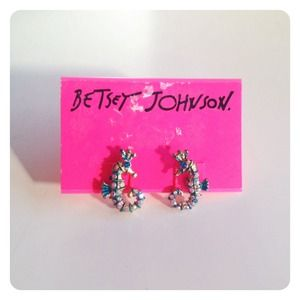 Betsey Johnson Sea Horse Studs