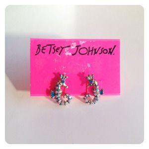 Betsey Johnson Jewelry - Betsey Johnson Sea Horse Studs