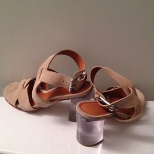 Michael Kors Shoes - Michael Kors suede and lucite heels!