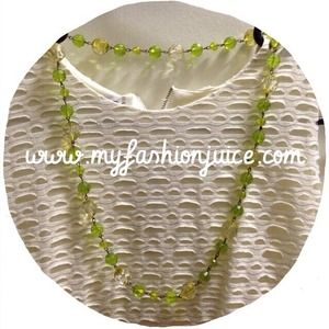 Clearance Green stones necklace from MNG by mango