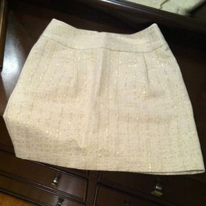 Merona Ivory Sparkle Mini Skirt