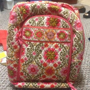Vera Bradley laptop backpack in Folkloric.