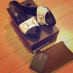 White Gucci Mules Sandals