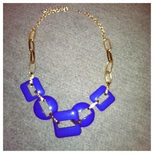 Blue & Gold statement necklace.