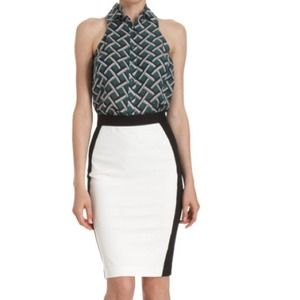 Derek Lam colorblock pencil skirt