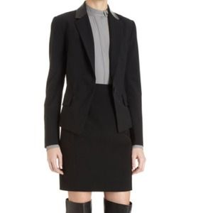 Alexander Wang leather panel blazer