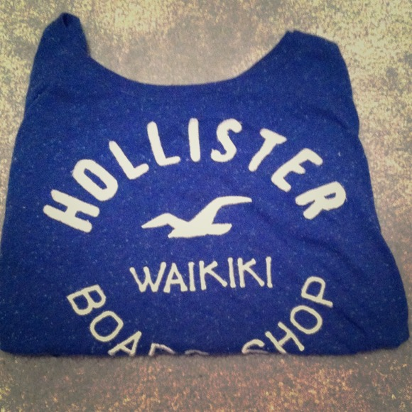 Navy Blue Hollister Shirt