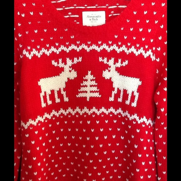 Abercrombie And Fitch Red Reindeer Sweater Abercrombie Fitch Red Gemma