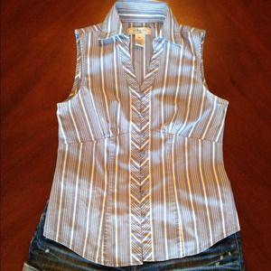 🌞 Periwinkle stripe top