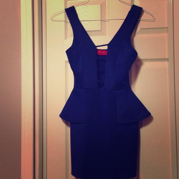 55% off Dresses & Skirts - Akira Chicago- Royal blue peplum dress ...