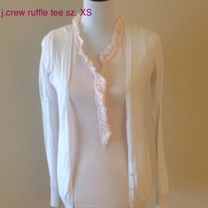 J. Crew Tops - J.CREW xs ruffle tee. light pink. so cute