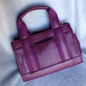 Tory Burch Bags - Tory Burch Leather Tiny Tory Tote Violet