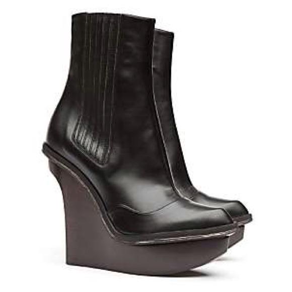 58f6cd4821f AUTH Stella McCartney wedge boots metal accent. M 5250cc813b887306070042a3