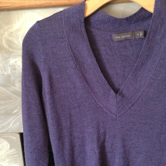The Limited - 🎉SALE🎉The Limited V-Neck Purple Sweater from ...