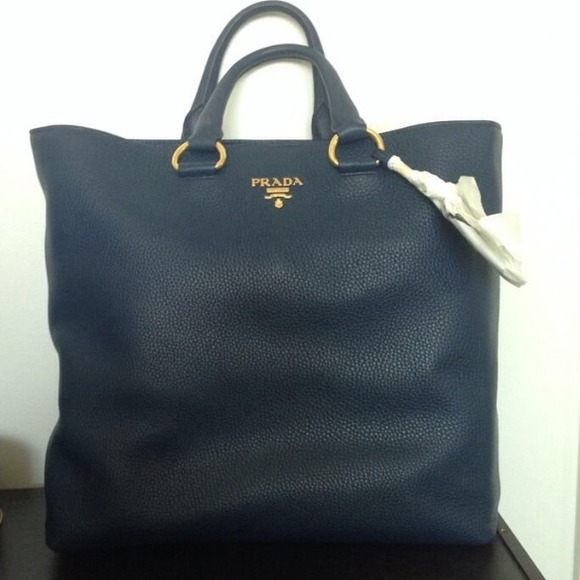 prada bags online cheap - 21% off Prada Handbags - Miranda Kerr Authentic Prada Blue Tote ...