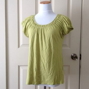 Sonoma Tops - Lime Green Scoop Neck Top