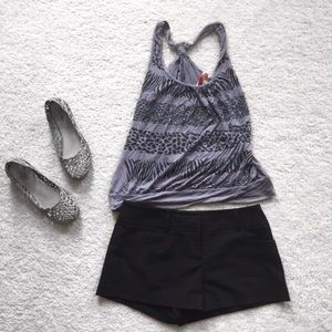 Tops - Grey animal print tank