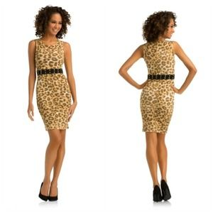 Beautiful leopard print studded dress