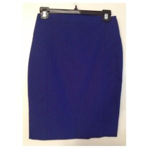Express size 0 electric blue pencil skirt