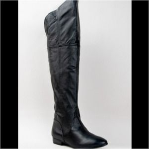 New Chinese Laundry Over The Knee Leather Boots 10