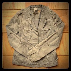 Grey textured jacket SZ S