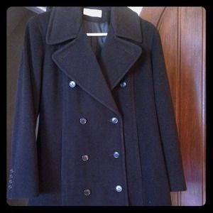 Calvin Klein double breasted wool peacoat