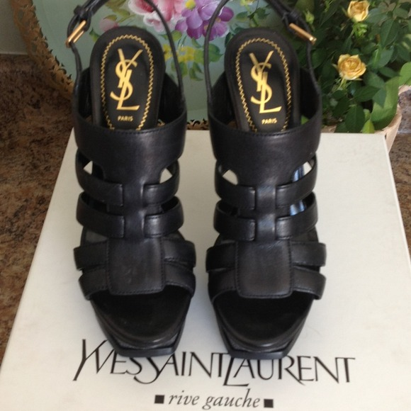 Yves Saint Laurent Shoes - Reduced! NWT YSL Black leather and Eel sandals 2