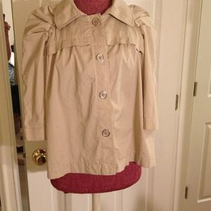 Ellavie (Dillard's)  Jackets & Blazers - Ellavie Cropped Trench Jacket
