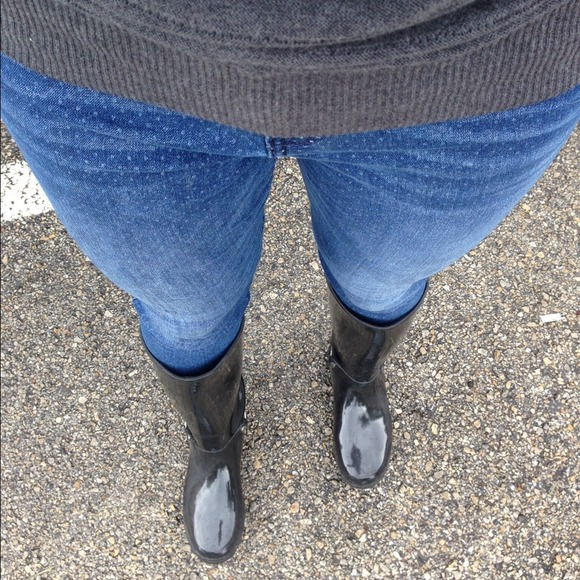 ALDO Shoes - Aldo Black Patent Leather Rain Boots