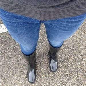 ALDO Shoes - Aldo Black Patent Leather Rain Boots 1
