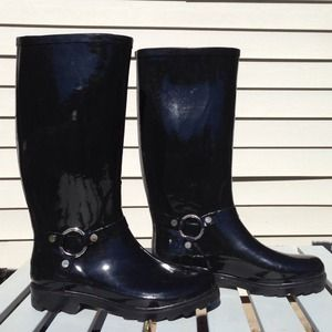 ALDO Shoes - Aldo Black Patent Leather Rain Boots 2